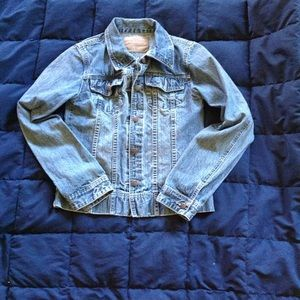 Abercrombie and Fitch jean jacket size m-l